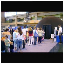 A line for a parent involvement night